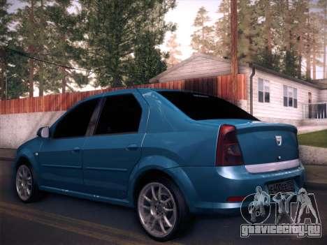 Dacia Logan GrayEdit для GTA San Andreas вид слева