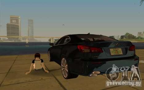 Lexus IS-F для GTA Vice City вид сверху