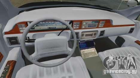 Chevrolet Caprice Police 1991 v2.0 N.o.o.s.e для GTA 4 вид сбоку