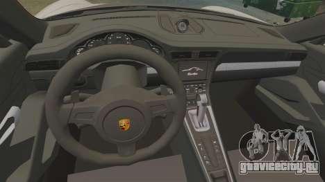 Porsche 911 Turbo 2014 [EPM] TechArt Design для GTA 4 вид сзади