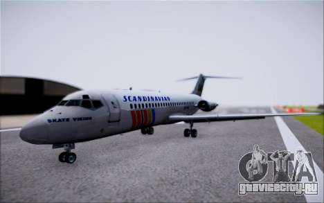 McDonnel Douglas DC-9-10 для GTA San Andreas вид сзади