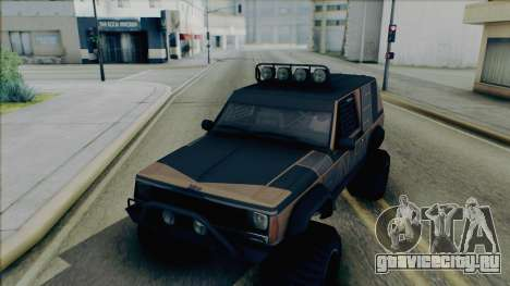 Jeep Cherokee 1984 Sandking для GTA San Andreas вид изнутри