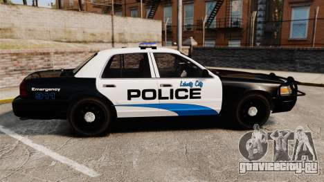 Ford Crown Victoria Police Interceptor [ELS] для GTA 4 вид слева