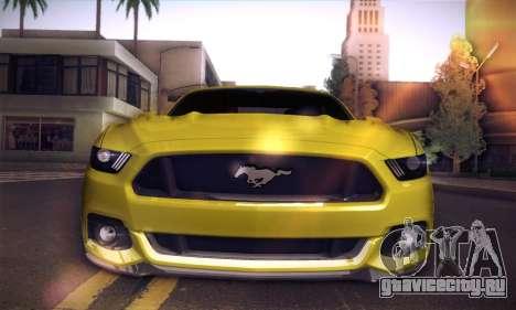 Ford Mustang 2015 Swag для GTA San Andreas вид сзади