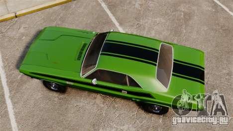 Dodge Challenger 1971 v2 для GTA 4 вид справа