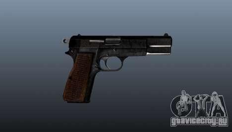 Самозарядный пистолет Browning Hi-Power для GTA 4 третий скриншот