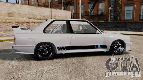 BMW M3 1990 Race version для GTA 4 вид слева