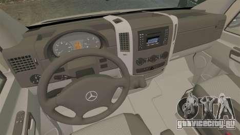 Mercedes-Benz Sprinter 2500 2011 v1.4 для GTA 4 вид сзади