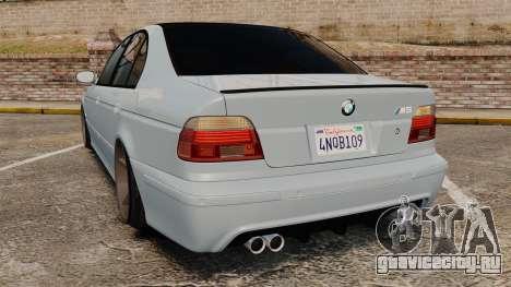 BMW M5 E39 2003 для GTA 4 вид сзади слева