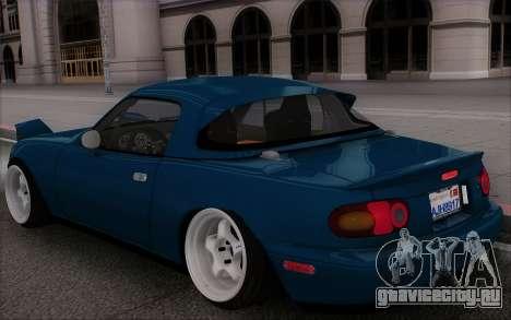 Mazda Miata для GTA San Andreas вид сбоку