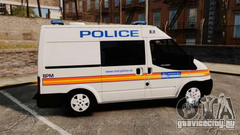 Ford Transit 2013 Police [ELS] для GTA 4 вид слева