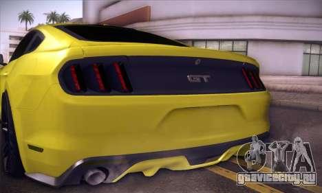 Ford Mustang 2015 Swag для GTA San Andreas вид изнутри
