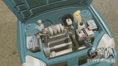 Daewoo Lanos PL 2001 для GTA 4 вид изнутри