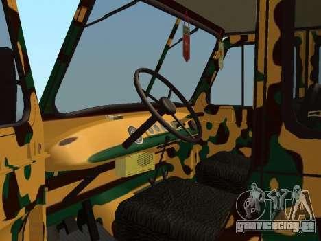 УАЗ 469 Камуфляж для GTA San Andreas вид сзади