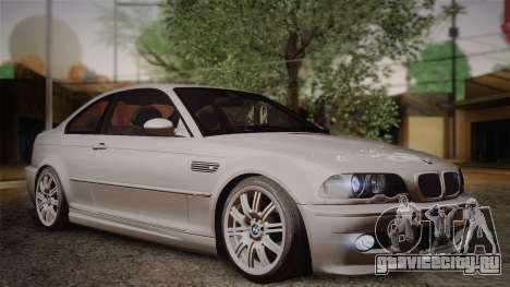BMW E46 M3 Coupe для GTA San Andreas вид справа