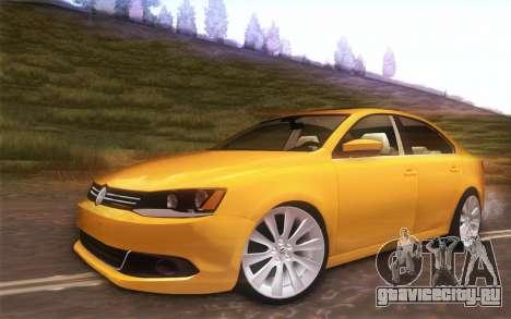 Volkswagen Vento 2012 для GTA San Andreas вид сзади