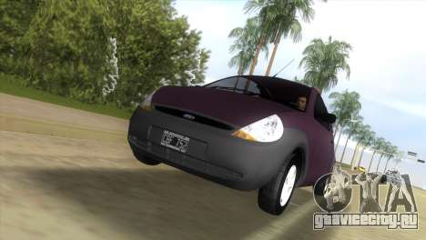 Ford Ka для GTA Vice City вид сзади слева