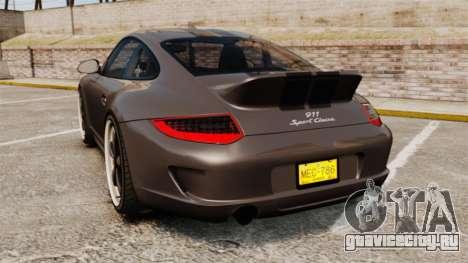 Porsche 911 Sport Classic 2010 для GTA 4 вид сзади слева