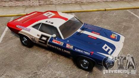 Dodge Challenger 1971 v2 для GTA 4 вид сверху