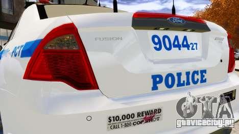 Ford Fusion LCPD 2011 [ELS] для GTA 4 вид сбоку