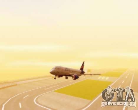 Sukhoi Superjet 100-95 Аэрофлот для GTA San Andreas вид сзади