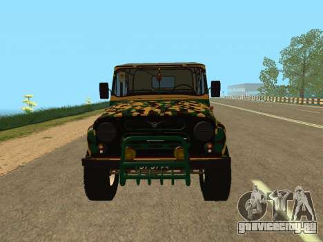 УАЗ 469 Камуфляж для GTA San Andreas вид справа