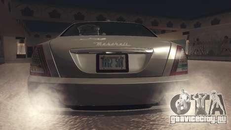Maserati Quattroporte 2012 для GTA San Andreas вид справа