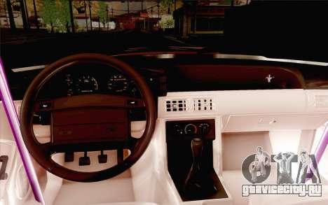Ford Mustang SVT Cobra 1993 Drift для GTA San Andreas вид сбоку