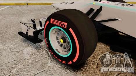 Mercedes AMG F1 W04 v6 для GTA 4 вид сзади