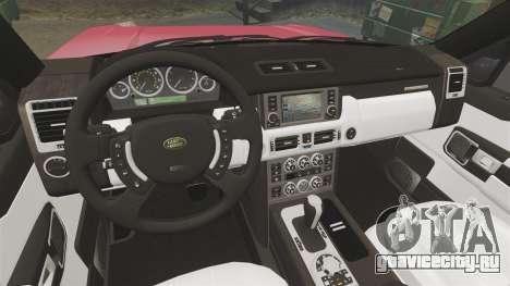 Range Rover TDV8 Vogue для GTA 4 вид изнутри