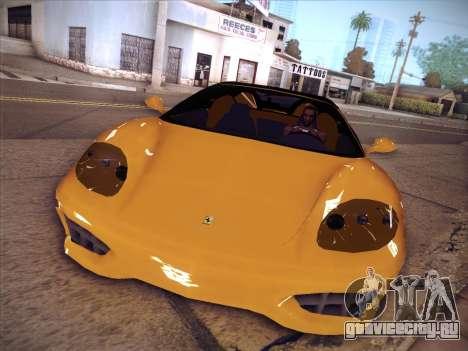 Ferrari 360 Spider для GTA San Andreas вид сзади слева
