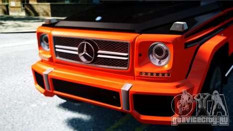 Mercedes-Benz G65 AMG 2013 для GTA 4 вид сзади слева