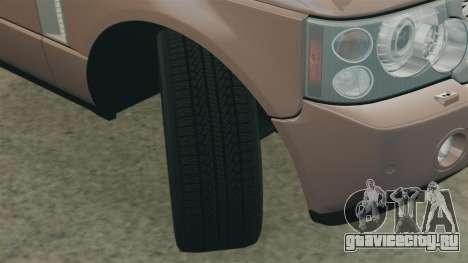 Range Rover TDV8 Vogue для GTA 4 вид сбоку