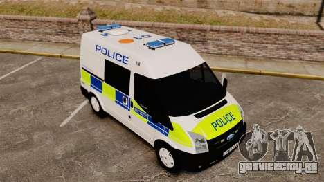 Ford Transit 2013 Police [ELS] для GTA 4 вид сверху