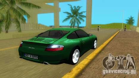 Porsche 911 Turbo для GTA Vice City вид сзади слева