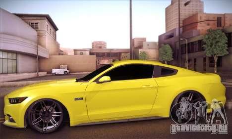 Ford Mustang 2015 Swag для GTA San Andreas вид сзади слева