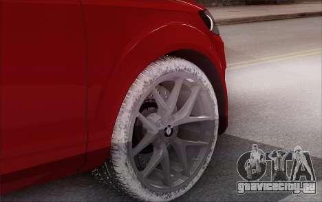 Audi Q7 Winter для GTA San Andreas вид сзади слева