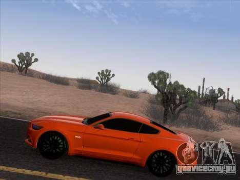 Ford Mustang GT 2015 для GTA San Andreas вид сбоку