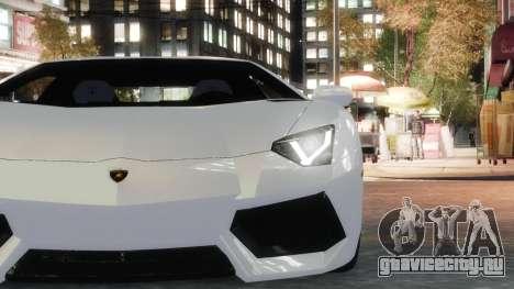 Lamborghini Aventador LP700-4 [EPM] 2012 для GTA 4 вид сзади
