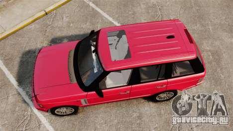 Range Rover TDV8 Vogue для GTA 4 вид справа