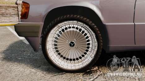 Mercedes-Benz E190 W201 для GTA 4 вид сзади