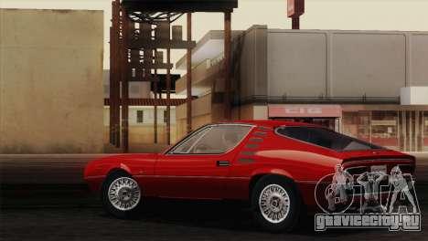 Alfa Romeo Montreal (105) 1970 для GTA San Andreas вид изнутри