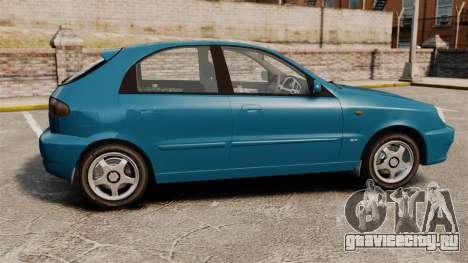 Daewoo Lanos PL 2001 для GTA 4 вид слева