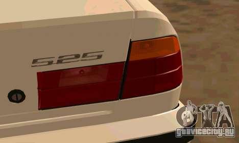 BMW 525 для GTA San Andreas вид сзади