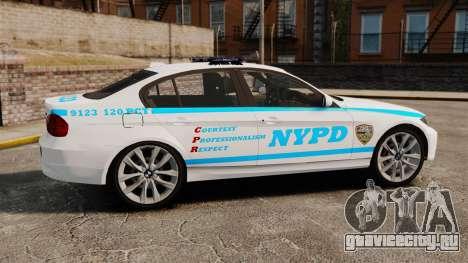 BMW 350i NYPD [ELS] для GTA 4 вид слева