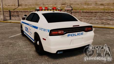 Dodge Charger 2012 LCPD [ELS] для GTA 4 вид сзади слева