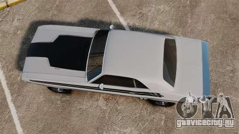 Dodge Challenger 1971 v1 для GTA 4 вид справа