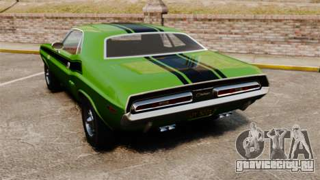 Dodge Challenger 1971 v2 для GTA 4 вид сзади слева