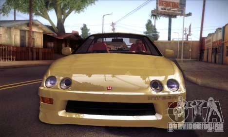 Honda Integra Drift для GTA San Andreas вид сзади слева