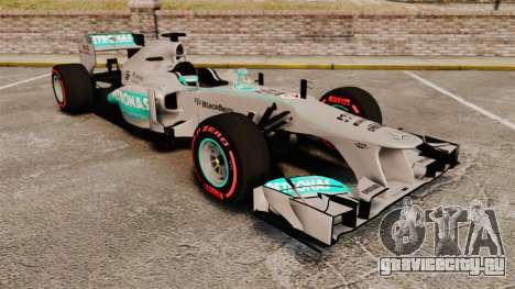 Mercedes AMG F1 W04 v6 для GTA 4